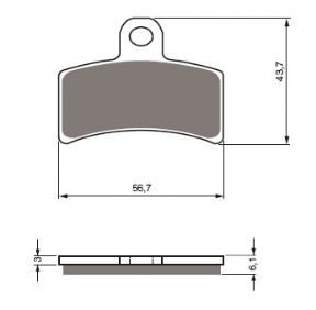 Brake Pad 143 for Hebo caliper